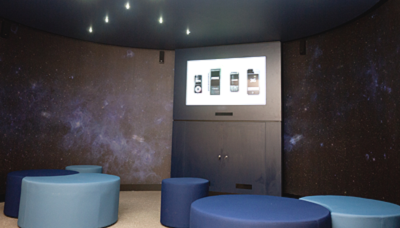 The NRC features a dedicated cinema for the introductory video and other presentations