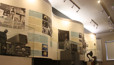 The Wall of Radio shows the history of radio communications