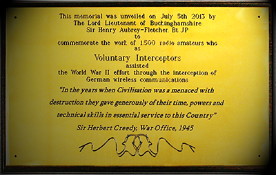 Voluntary Interceptors memorial plaque at the NRC